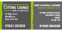 Thanet Wanderers RUFC sponsors logo - The Cutting Lounge & The Tanning Lounge
