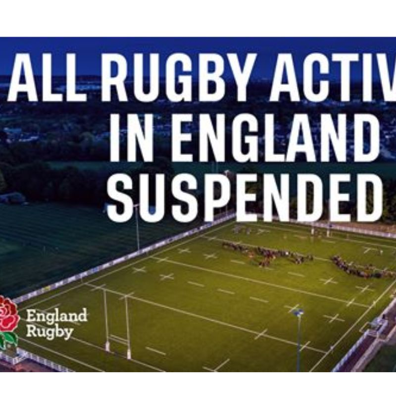 Image for the RFU bans all rugby activity news article