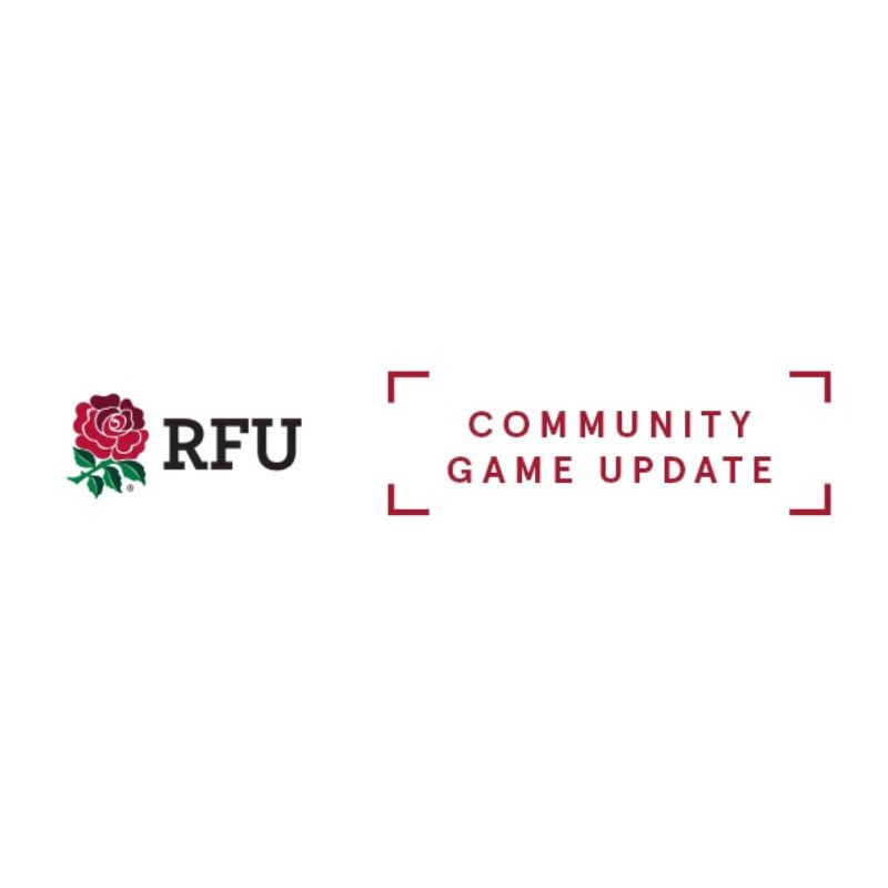 Image for the The Latest Community Game Update from the RFU news article