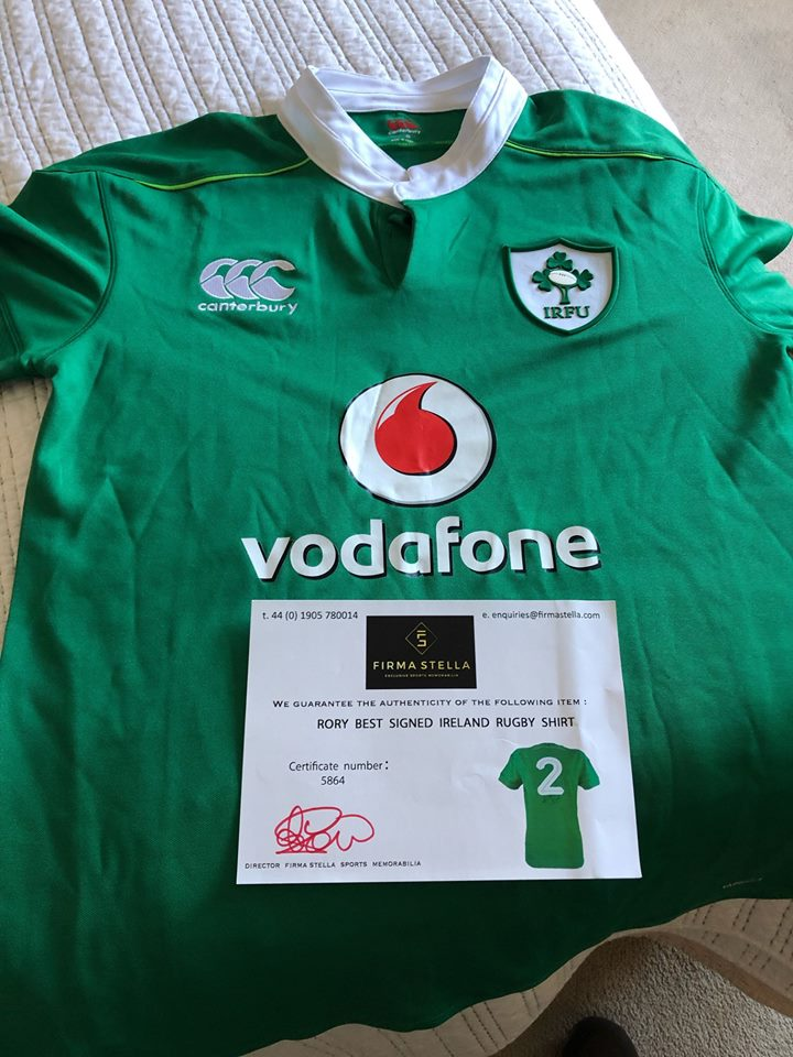 RORY BEST SHIRT. GREAT OPPORTUNITY FOR IRELAND FANS
